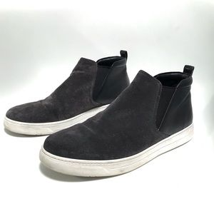 Prada. Suede Chelsea high top slip on sneakers